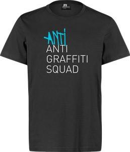 8 MILES HIGH - ANTI ANTI GRAFFITI T-SHIRT (BLACK)