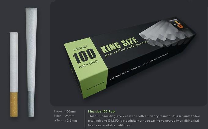 EMPTY CONES - 100 PACK JWARE KINGSIZE