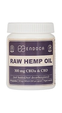 ENDOCA - Capsules Raw Hemp Oil Total:300mg CBD+CBDa