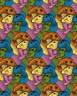 FIVE FISH PRINT - A2 (mm x mm)