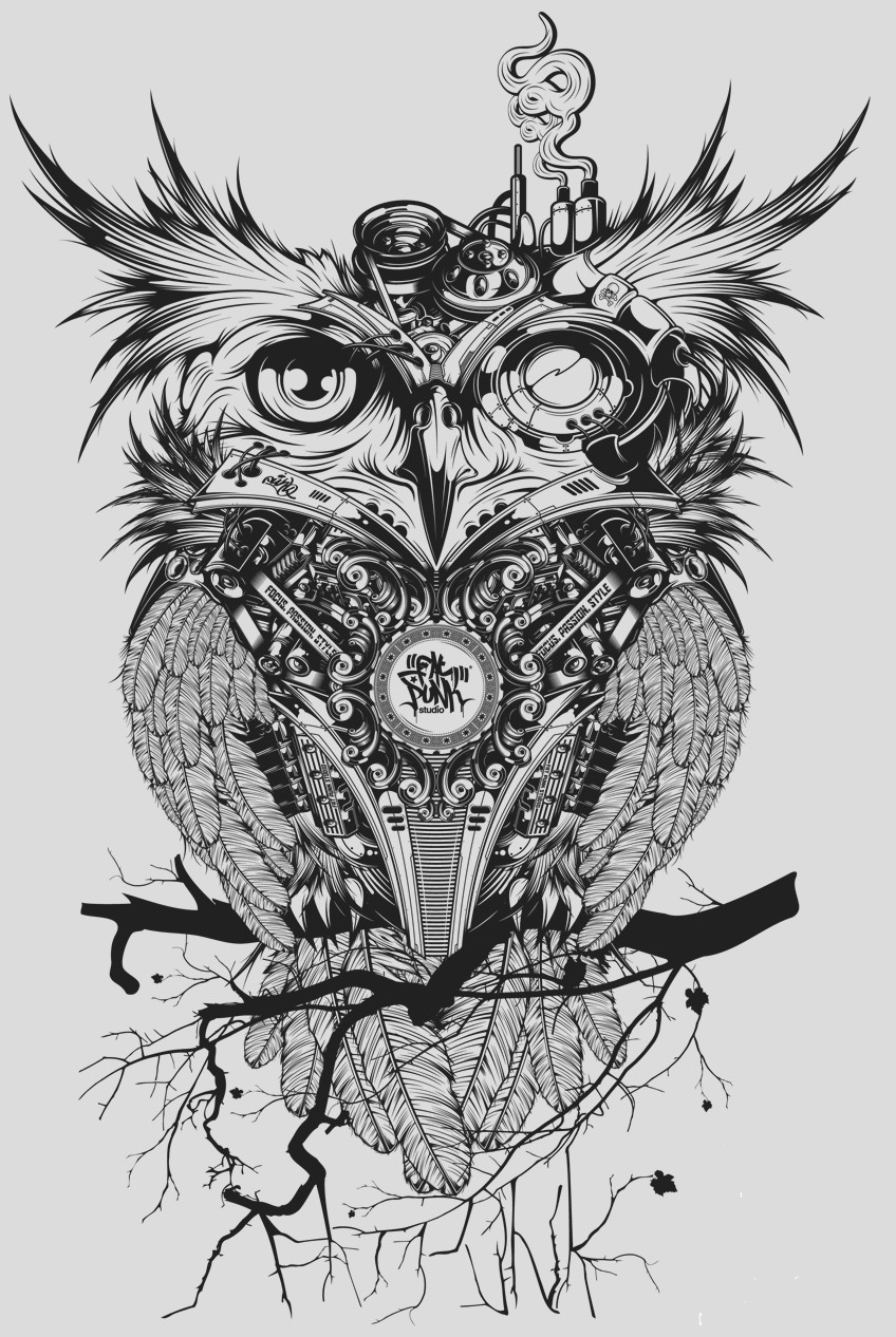 OWL PRINT - A2 (mm x mm)