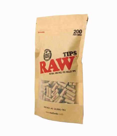 RAW - PREROLLED TIPS (REFILL BAG 200)