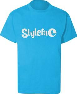 STYLEFILE T-SHIRT LIGHT BLUE / WHITE