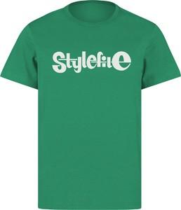 STYLEFILE T-SHIRT GREEN / WHITE