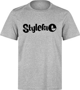 STYLEFILE T-SHIRT HEATHER GREY / BLACK