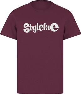 STYLEFILE T-SHIRT MAROON / WHITE