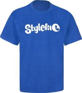 STYLEFILE T-SHIRT ROYAL BLUE / WHITE