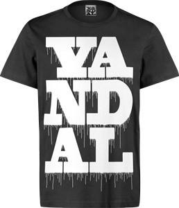 VANDAL WEAR T-SHIRT - VANDAL DRIPS WHITE ON BLACK