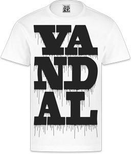 VANDAL WEAR T-SHIRT - VANDAL DRIPS BLACK ON WHITE