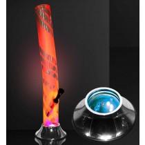 03800 ACRYLIC BONG WITH LED BASE
