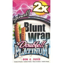 BLUNT WRAP DOUBLE PLATINUM - GIN & JUICE