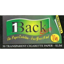 1BACK TRANSPARENT SMOKING PAPERS 1.25