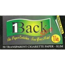 1BACK TRANSPARENT SMOKING PAPERS 1.25