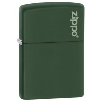 ZIPPO - GREEN MATTE REGULAR w ZIPPO LOGO (221ZL)