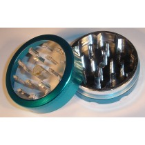 2 PART METAL WINDOW GRINDER- LIGHT BLUE