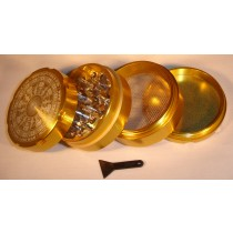 4 PART SHARP TOOTH GRINDER- GOLD