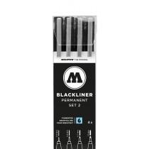 MOLOTOW - BLACKLINER SET 2 (4 MARKERS)