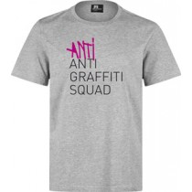8 MILES HIGH - ANTI ANTI GRAFFITI T-SHIRT (GREY)