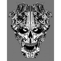 ENGINE SKULL PRINT - A3 (mm x mm)