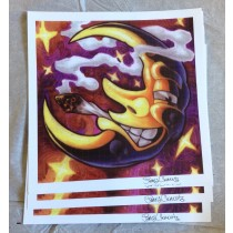 BANANA MOON (SIGNED BY JAMES CLEMENTS) - BLOTTER ART