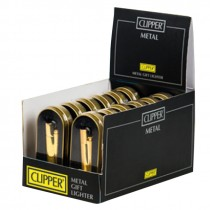 METAL CLIPPER LIGHTER - ALL GOLD