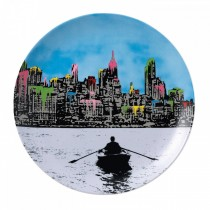 ROYAL DOULTON - NICK WALKER - 27cm PLATE - THE MORNING AFTER NEW YORK