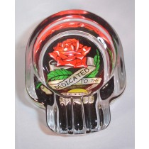 SKULL ASHTRAY - TATTOO ROSE