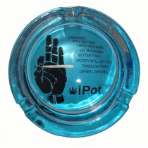 Small Round ASHTRAY - i-pot blue