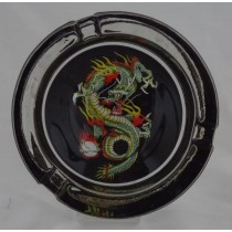 Small Round ASHTRAY - tattoo series - dragon