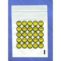 5cm x 5.5cm GRIP BAGS - SMILEY FACE