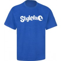 STYLEFILE T-SHIRT ROYAL BLUE / WHITE