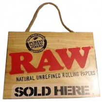 """RAW WOODEN """"SOLD HERE"""" SIGN"""