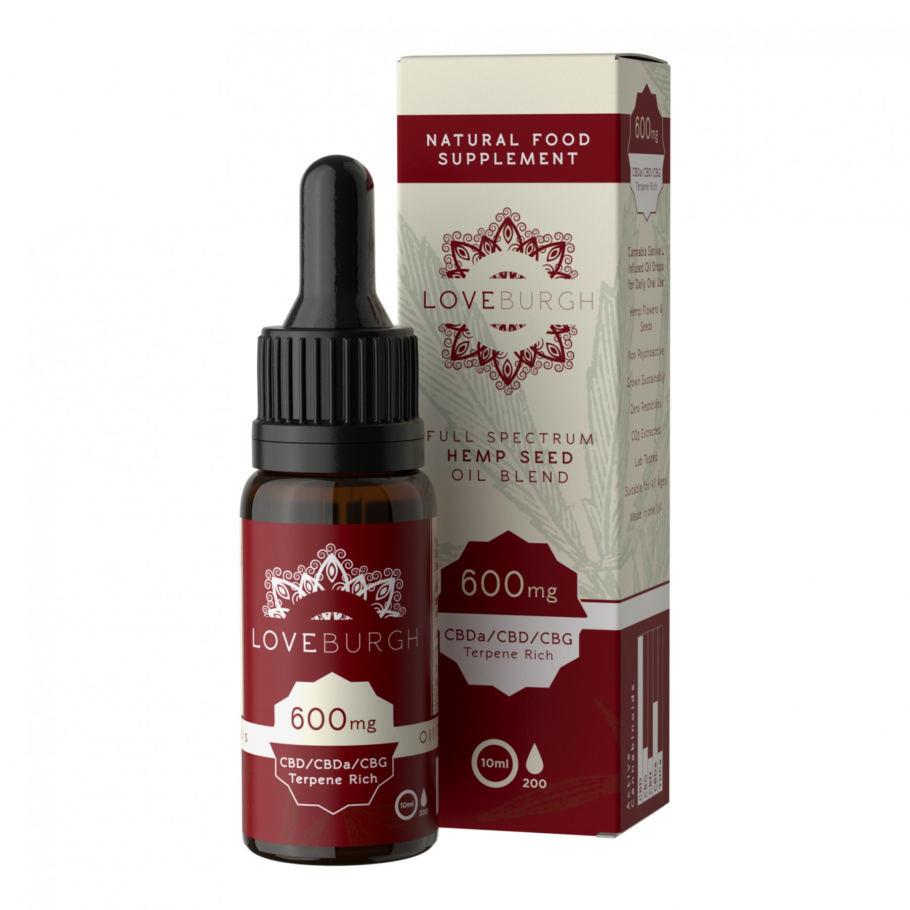 LOVEBURGH CBD OIL 600 - Home