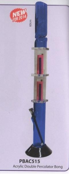ACRYLIC DOUBLE PERCOLATOR BONG (PBAC515) 60cm tall
