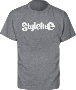 STYLEFILE T-SHIRT DARK GREY / WHITE