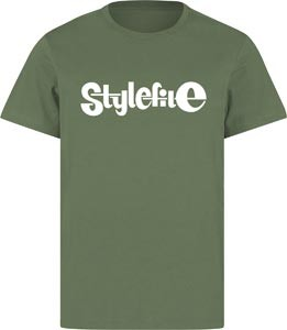 STYLEFILE T-SHIRT OLIVE / WHITE
