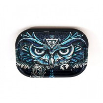 METAL ROLL TRAY - OWL (18x14cm)