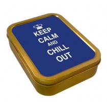 TOBACCO TIN 2oz - KEEP CALM & CHILL OUT