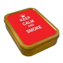 TOBACCO TIN 2oz - KEEP CALM & SMOKE