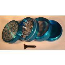 4 PART SHARP TOOTH GRINDER- LIGHT BLUE