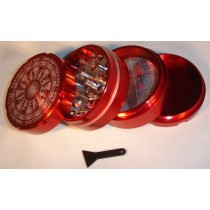 4 PART SHARP TOOTH GRINDER-RED