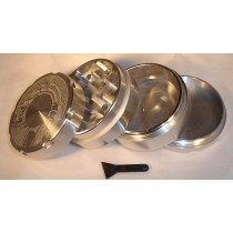 4 PART SHARP TOOTH GRINDER- SILVER