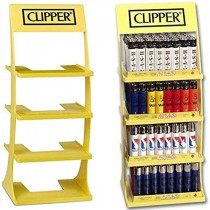 CLIPPER YELLOW DISPLAY STAND (NO LIGHTERS)