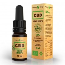 PHARMA HEMP - CBD DROPS ORGANIC 10ml - 4.5%