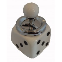 DICE ASHTRAY - WHITE