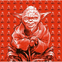 YODA (BROWN) - BLOTTER ART