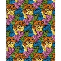 FIVE FISH PRINT - A3