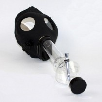 GAS MASK BONG w. CLEAR BONG