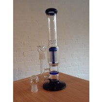 30cm HONEYCOMB PERCOLATOR BONG (BLUE)