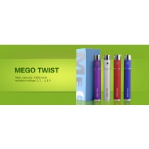 MEGO TWIST eCIG GIFT BOX SET 1 x 1300mah Battery. 1 x USB Charger. LCD Display.